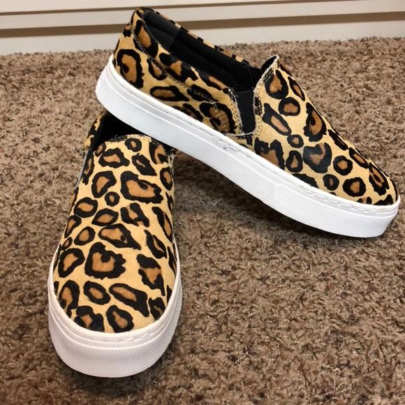 230e5d926f2795 Sam Edelman leopard print sneaker slip on. M 5a54bdb405f430cb2f04abc7